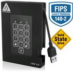 Aegis Fortress FIPS USB3.0 Hw Encrypted Portable Drive 512GB