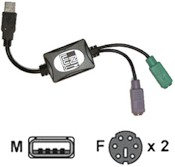 Ps/2 To USB Adapter For Keyboard And Mouse Qwerty Us
