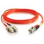 Patch Cable Lc/sc Lszh Duplex 62.5/125 Multimode Fiber Orange 1m