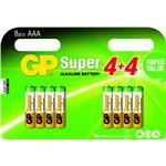 Gp Super Alkaline Battery Aaa 8-pack Blister/ 1.5v Lr03