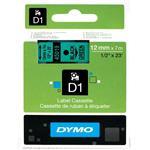 D1 Standard Tape Black On Green 12mmx7m