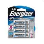 High Energy Lithium Aa Battery 4pk