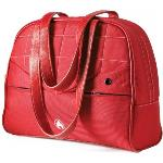 Women Laptop Purse Red 13.3in With White Stitching