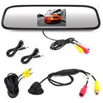 Rearview Backup Camera & Mirror Monitor, Waterproof Night Vision Cam, 4.3in Screen
