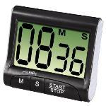 Countdown Kitchen Timer, Digital, Black