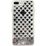 Xccess Liquid Glitter Case Apple iPhone 7 Plus/8 Plus Silver Hearts