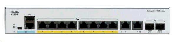 CISCO SYSTEMS Catalyst 1000 8port Ge Poe 2x1g Sfp - C1000-8P-2G-L -  Redcorp.com/en