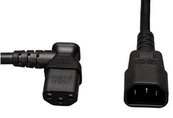 IEC 60320 C14 to Left Angle IEC 60320 C13 Plug Adapter 10A 250V