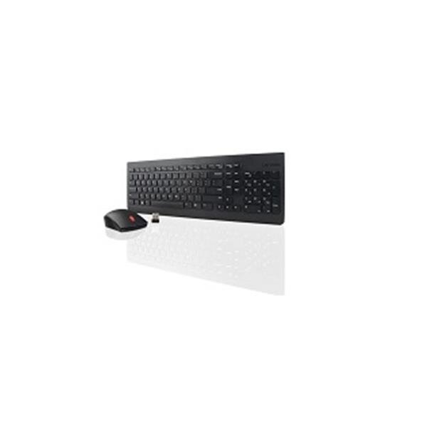 lenovo essential wireless keyboard and mouse combo azerty belgian 4x30m39462. Black Bedroom Furniture Sets. Home Design Ideas