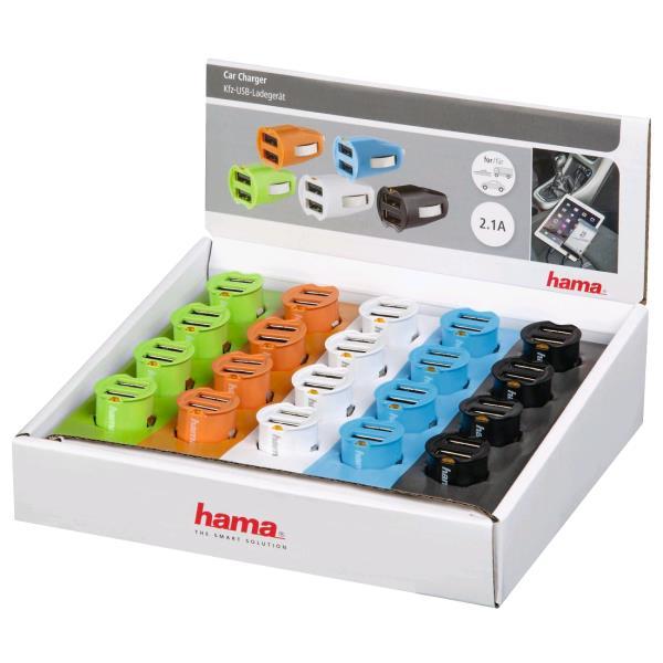 9fa5803c41a HAMA USB Car Charger, 2x USB, 2.1A - 123530 - Redcorp.com/en