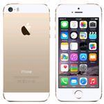 iPhone 5S 4G 16GB 4in iOS Gold - Renewed with 2 yr Warranty, cable & adapter