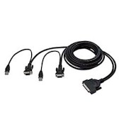 Omniview Enterprise Series Dual Port USB KVM Cable 1.8m Md50m USB A Hd15
