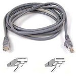 Patch Cable - CAT6 - utp - Snagless - 1m - Grey