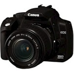 Digital Camera Slr Eos 350d 8.0mpix Digic Ii Cf USB2.0 Body + Ef 18-55/55-200mm Lens