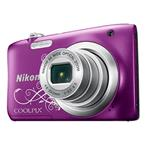 Digital Camera Coolpix A100 20.1 Mpix 5x Op Zoom 4x Digital Zoom 2.7in LCD Purple Lineart
