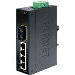 Industrial Switch Ip30 Slim Type 4-port + 1xfx 15km