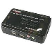 KVM Switch Kit USB 2 Port With Audio And Cables Black