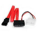 Slimline SATA To SATA With Low Profile4 Power Cable Adapter 12in
