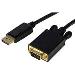 DisplayPort To Vga Adapter Converter - Dp To Vga 3m Black