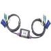 KVM Switch 2p Cable KVM Ps2 + Audio