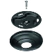 Ceiling Plate Fixed Small Black - Puc 1011